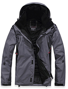 Men's Ski Jacket Waterproof Thermal / Warm Quick Dry Windproof Ultraviolet Resistant Anti-Eradiation Breathable Full Length Visible Zipper