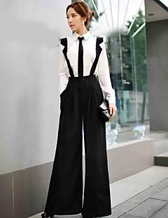femei dabuwawa solida late pantaloni curele de picior, strada chic / sofisticat