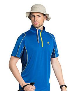 tanie Koszulki turystyczne-Męskie Krótki rękaw Quick Dry Wiatroodporna Oddychający T-shirt Topy na Joga Taekwondo Wspinaczka Golf Sport i rekreacja M L XL XXL