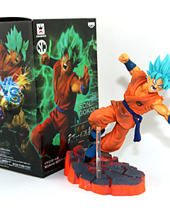 billige Anime cosplay-Anime Action Figurer Inspirert av Dragon Ball Son Goku PVC 14 CM Modell Leker Dukke