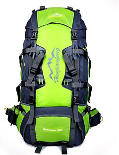 billiga Ryggsäckar och väskor-80L Ryggsäckar / Cykling Ryggsäck / ryggsäck - Vattentät, Andningsfunktion, Stötsäker Camping, Klättring, Fritid Sport Nylon Orange,