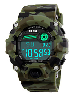 SKMEI Pánské Sportovní hodinky Vojenské hodinky Náramkové hodinky Digitální LED Kalendář Chronograf Voděodolné poplach Svítící Stopky PU