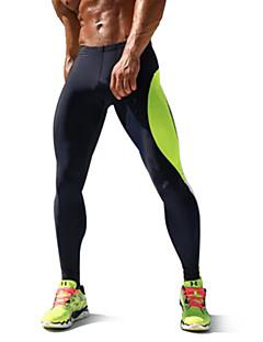 billige Løbetøj-Herre Grundlag / Løbetights / Træningsleggings - Grøn, Blå Sport Tights Træning & Fitness, Racing, Løb Hurtigtørrende, Høj Åndbarhed,