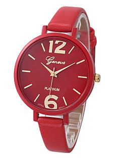 Mulheres Relógio de Pulso / Quartzo PU Banda Legal Casual Preta Branco Azul Vermelho Marrom Rosa Amarelo
