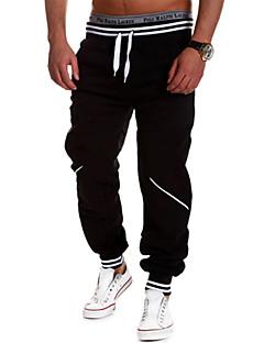 男性用 ランニングパンツ 透湿性 高通気性 快適 パンツ トラックスーツ ボトムズ のために ヨガ エクササイズ&フィットネス レーシング レジャースポーツ ランニング コットン ルーズ ホワイト ブラック グレー ブルー L XL XXL