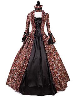 Uma-Peça/Vestidos Gótica Lolita Clássica e Tradicional Rococo Princesa Inspiração Vintage Elegant Vitoriano Cosplay Vestidos Lolita Fúcsia