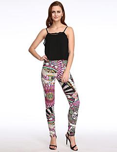 economico Abbigliamento e moda donna-Per donna Casual magro Jeans Pantaloni - Multicolor Stampa reattiva