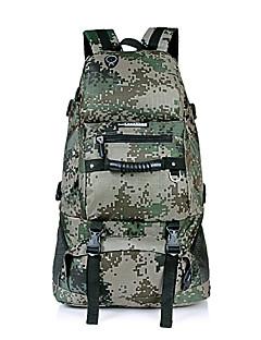 billiga Ryggsäckar och väskor-45 L Ryggsäckar - Vattentät, Regnsäker, Fuktighetsskyddad Utomhus Camping, Jakt, Klättring Nät, Nylon, Vattentätt Material Grå, Khaki grön, kamouflage Grön