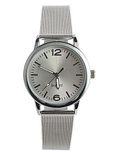 billige Børneure-Dame Quartz Armbåndsur / Hot Salg Rustfrit stål Bånd Afslappet Mode Sølv
