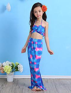 Girl Cartoon Print Swimwear,Spandex
