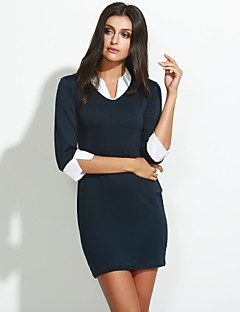 Women's Sexy Bodycon Cute  Plus Sizes Above Knee Dress  (Knitwear)