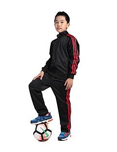 Crianças Futebol Conjuntos de Roupas/Ternos Respirável Confortável Primavera Outono Inverno Cor Única Terylene Futebol Vermelho Preto