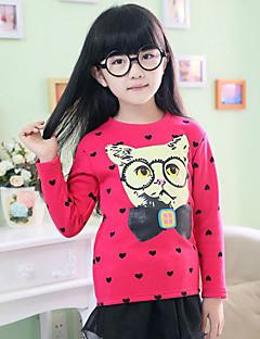 Mädchen T-Shirt Ausgehen Lässig/Alltäglich Urlaub Druck Baumwolle Winter Herbst Frühling Lange Ärmel Normal