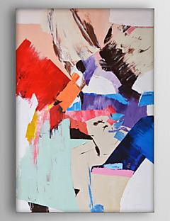 tanie Pejzaże abstrakcyjne-Hang-Malowane obraz olejny Ręcznie malowane - Krajobraz Nowoczesny Brezentowy / Rozciągnięte płótno