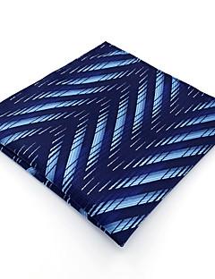 Herrer Slips og halstørkle,Vintage Søtt Fest Kontor Fritid Rayon,Geometrisk Blå