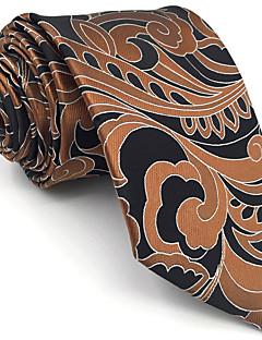 billige Redaksjonens valg-menns søte fest arbeid casual rayon slips farge blokk paisley jacquard, basic