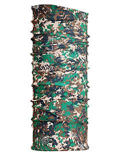 Bandanas Sykkel Pustende Fort Tørring Vindtett Fukt Gjennomtrengelighet Unisex Army Grønn Polyester