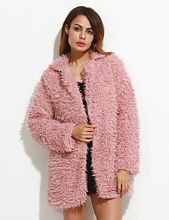 お買い得  レディースコート&トレンチコート-女性用 コート-ヴィンテージ ルーズ ソリッド