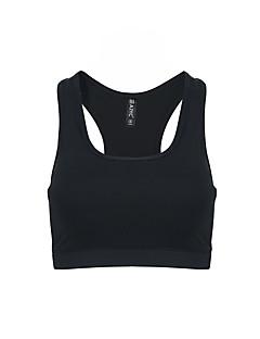 בגדי ריקוד נשים חזיות ספורט Anti-Shake ייבוש מהיר נושם עמיד לזעזועים חזיות ספורט צמרות ל יוגה כושר גופני ריצה מודלים פוליאסטר שחור אפור