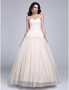 저렴한 특별한 이벤트 드레스-볼 드레스 공주 스윗하트 바닥 길이 레이스 튤 댄스 파티 드레스 와 으로 TS Couture®