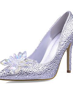 hesapli -Kadın's Ayakkabı Sentetik / Parıltılı Bahar / Yaz Stiletto Topuk Düğün / Elbise / Parti ve Gece için Kristal / Boncuklama / Işıltılı