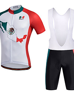 Miloto Cycling Jersey with Bib Shorts Men's Short Sleeves Bike Bib Shorts Shorts Shirt Sweatshirt Jersey Bib Tights Top Quick Dry