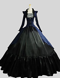 cheap Lolita Dresses-Gothic Lolita Dress Victorian Women's Outfits Cosplay Poet Long Sleeves Ankle Length