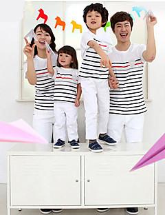 billige Barns Moteklær-Sommer Familie klær sett Bomull/Økologisk bomull Uelastisk Medium