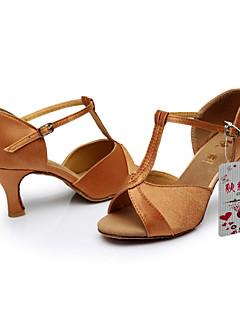 Latin-Pantofi de dans(Negru / Maro / Argintiu / Auriu / Altele) -Personalizabili-Damă