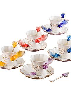 hesapli Çay Fincanları-drinkware Cam Yenilikçi Bardaklar / Çay Fincanları / Cam girlfriend Hediye / Modellendirme 1 pcs