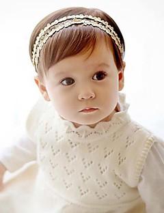 billige Babytøj-Pige Hår Tilbehør Alle årstider - Bomuld Blondelukning - Pandebånd - Guld Sølv