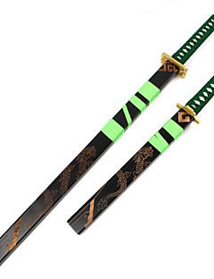 baratos Swords Anime Cosplay-Arma / Espada Inspirado por One Piece Roronoa Zoro Anime Acessórios para Cosplay Arma Madeira Homens novo Trajes da Noite das Bruxas