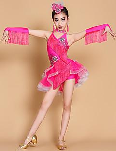 Werden wir Latin Tanz Kleider Kinder Leistung 7 Stück Kleid