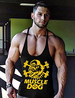 お買い得  メンズ トップス-男性用 スポーツ ビーチ - タンクトップバック タンクトップ, 活発的 プリント コットン