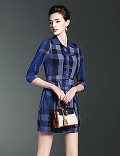 Χαμηλού Κόστους MORE BRANDS-Γυναικεία Χαριτωμένο Γραμμή Α Φόρεμα Στάμπα Πάνω από το Γόνατο