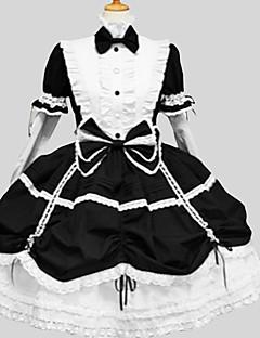 billiga Lolitaklänningar-Klassisk/Traditionell Lolita Elegant Dam Klänningar Cosplay Poet Långärmad Lång längd
