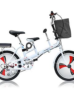 baratos Total Promoção Limpa Estoque-Bicicleta Dobrável Ciclismo 3 velocidade 20 polegadas Freio a Disco Duplo Garfo com Suspensão a Mola Manocoque Comum Liga de alumínio / Aço / Sim / #