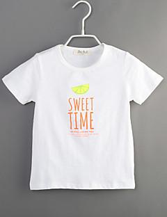 Poika Painettu T-paita Rento/arki Puuvilla Kesä Lyhythihainen