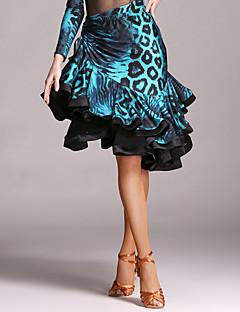 cheap Latin Dance Wear-Latin Dance Tutus & Skirts Women's Performance Velvet Cascading Ruffle Natural Skirt