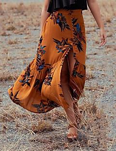 お買い得  レディーススカート-女性用 ストリートファッション お出かけ 祝日 マーメイド/トランペット ブランコ スカート - フラワー