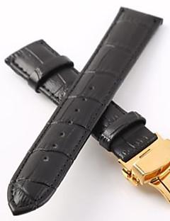 お買い得  腕時計用アクセサリー-本革 時計バンド ストラップ ブラック 20cm / 7.9 Inch 2cm / 0.8 Inch