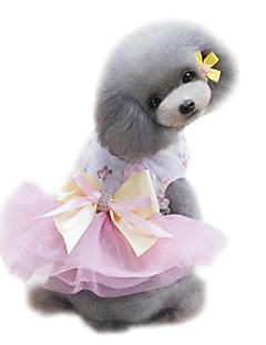 billiga Hundkläder-Hund Smoking Klänningar Hundkläder Prinsessa Grön Rosa Ljusblå Chiffong Kostym För husdjur Dam Mode Bröllop