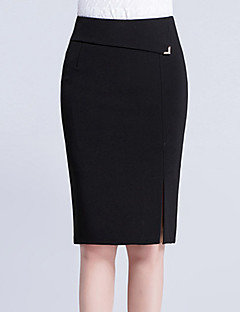 cheap Women's New Ins-Women's Daily Work Knee-length Skirts,Cute Casual Sexy Bodycon Cotton Solid Summer