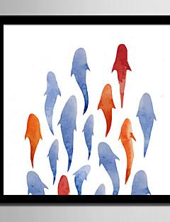 billige Indrammet Abstrakt Kunst-Indrammet Lærred Indrammet Sæt Abstrakt Dyr Vægkunst, PVC Materiale Med Ramme Hjem Dekoration Ramme Kunst Stue Soveværelse Køkken