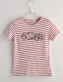 Poika Polka Dot T-paita Rento/arki Puuvilla Kesä Lyhythihainen