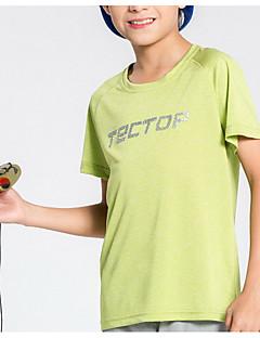 baratos Camisetas para Trilhas-Unisexo Camiseta de Trilha Secagem Rápida Leve Blusas para Esportes Relaxantes Verão M L XL