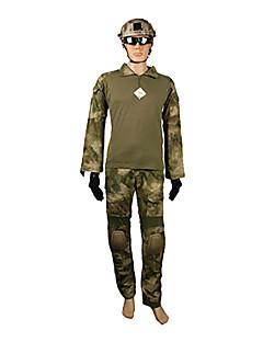 Pánské Dámské Unisex Dlouhý rukáv Lovecká bunda s kalhotami Větruvzdorné Pohodlné maskování Sady oblečení pro Lov Kamufláž L XL