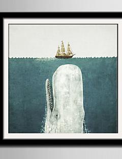 ieftine Artă Animale Înrămată-Pânză Înrămată - Peisaj PVC Ilustrație