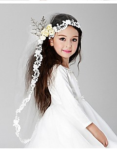 cheap Wedding Veils-Two-tier Wedding Veil Communion Veils 53 Embroidery Tulle