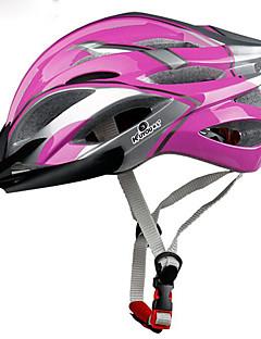 billiga Cykling-KUYOU Vuxen cykelhjälm 21 Ventiler CE Certifiering Stöttålig, Avtagbar visir EPS, PC Vägcykling / Rekreation Cykling / Cykling / Cykel - Ljuslila / Himmelsblå / Röd Unisex